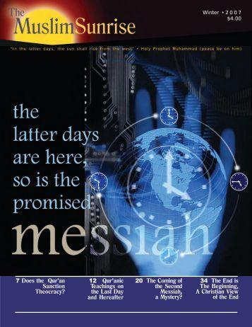 2007, IV - The Muslim Sunrise