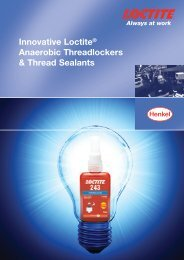 Innovative Loctite® Anaerobic Threadlockers & Thread Sealants