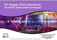 ICT Supply Chain Assurance - Build Security In