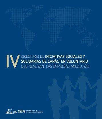 iniciativas sociales y solidarias de carácter - Confederación de ...
