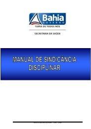 manual de sindicância disciplinar - copad - superh - Sesab