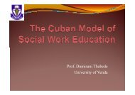 The Cuban Model of Social Work Education