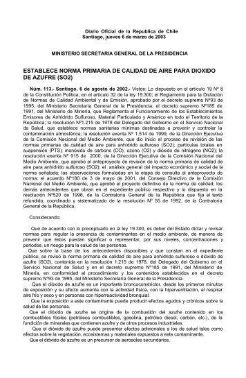 ESTABLECE NORMA PRIMARIA DE CALIDAD DE AIRE ... - Asimet