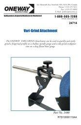 Oneway Vari-Grind Jig Instructions - Rockler.com