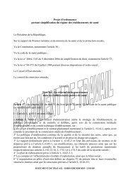 Projet d'ordonnance portant simplification du régime des ... - ADIPh