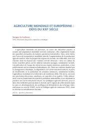 Agriculture mondiale et européenne - OFCE - Sciences Po