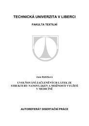 teze - Fakulta textilní - Technická univerzita v Liberci