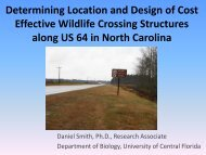 Determining Location and Design of Cost Effective Wildlife Crossing ...