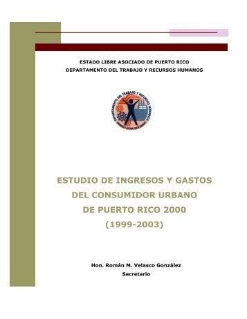 estudio de ingresos y gastos del consumidor urbano de puerto rico ...