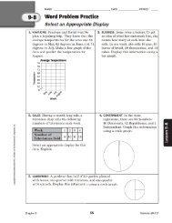 9-3 ' Word Problem Practice