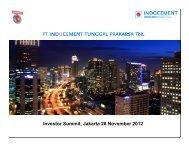 Investor Summit, Jakarta 28 November 2012 - Idx