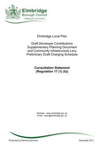 Elmbridge Local Plan Draft Developer Contributions Supplementary ...