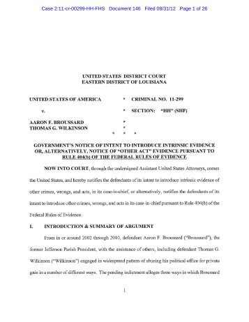 Case 2:11-cr-00299-HH-FHS Document 146 Filed 08 ... - NOLA.com