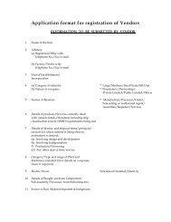 Application format for registration of Vendors - Cochin Shipyard
