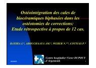 Ostéointégration des cales de biocéramiques ... - ClubOrtho.fr