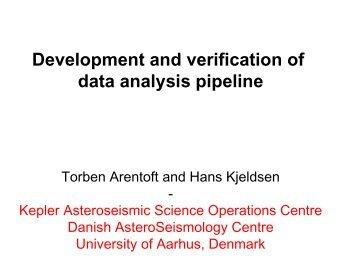 Development and verification of data analysis pipeline: Torben ...