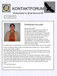 Oktober_2006 - Bodø Mørkved Rotary klubb