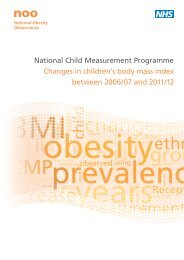 Changes in children's body mass index between 2006/07 and 2011/12