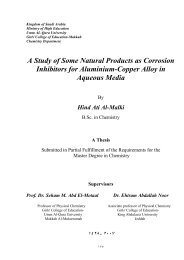 A Study of Some Natural Products as Corrosion Inhibitors for ...