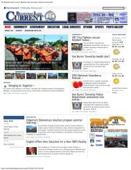 Web Ad Snapshot - The Belleville Lake Current