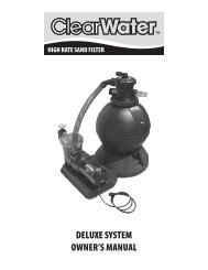 DELUXE SYSTEM OWNER'S MANUAL - Waterway Plastics