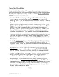 Canadian highlights (PDF) - David Suzuki Foundation