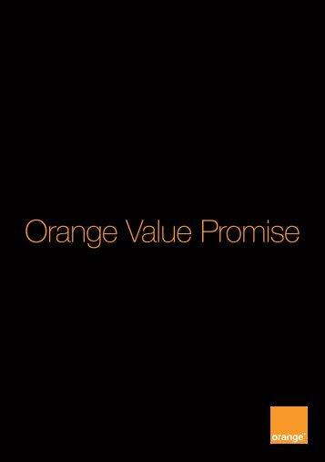Orange Value Promise
