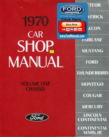 DEMO - 1970 Ford Car Shop Manual (Vol I-V) - FordManuals.com