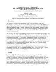 Willson, S., 2006, Cognitive Interviewing Evaluation of the 2007 ...