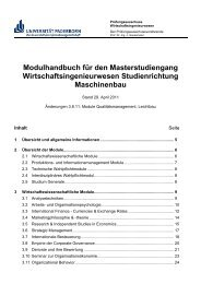 Master-Studiengang/MB - Fakultät für Maschinenbau - Universität ...