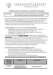 Antrag mündliche Prüfung für den Erwerb eines weiteren Lehramtes