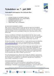 Nyhedsbrev nr. 7 - juli 2009 - Nationalpark Sydfyn