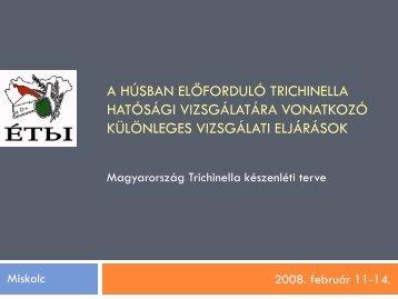 Magyarország Trichinella készenléti terve - Foodlawment