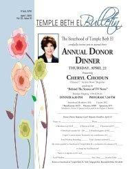 April 10 Bulletin.indd - Temple Beth El