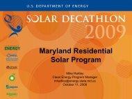Maryland Residential Solar Program - Solar Decathlon