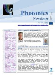 Photonics December 2008 - Seventh EU Framework Programme ...