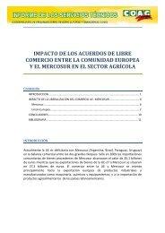 impacto de los acuerdos de libre comercio entre la ... - Coag
