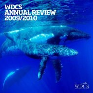 wdcs annual review 2009/2010 - Whale and Dolphin Conservation ...
