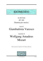 IDOMENEO Giambattista Varesco Wolfgang ... - Fulmini e Saette