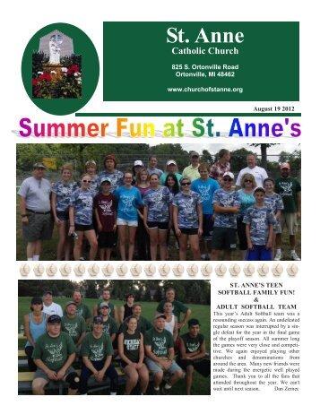 August 19, 2012 - St. Anne Catholic Church