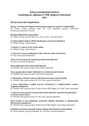 Környezettudományi Intézet Szakdolgozat, diploma és TDK dolgozat ...