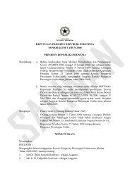 Keppres Nomor 162/M tahun 2000 - KPPU