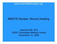 ABSITE Review: Wound Healing - Department of Surgery at SUNY ...