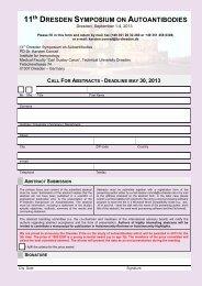 11th DRESDEN SYMPOSIUM ON AUTOANTIBODIES - (GFID) eV
