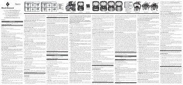 ENGLISH FRANÇAIS DEUTSCH - Rescue Response Gear
