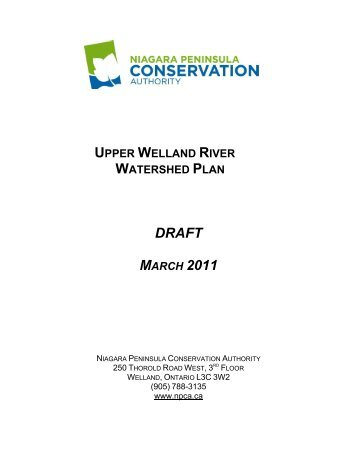 Upper Welland River Watershed Plan - Niagara Peninsula ...