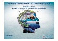 Télécharger la présentation de la communication financière ... - Tustex