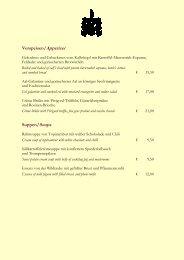 Hauptgerichte/Main courses - im Kastens Hotel Luisenhof