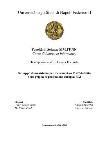 Università degli Studi di Napoli Federico II - Scope