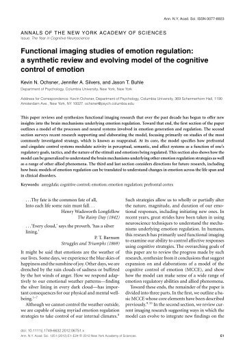 A synthetic review and evolving model of the cognitive control